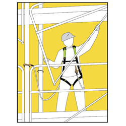 KRATOS SCAFFOLDER KIT, Scaffolder Kit with a harness and an energy absorbing webbing lanyard FA8000200