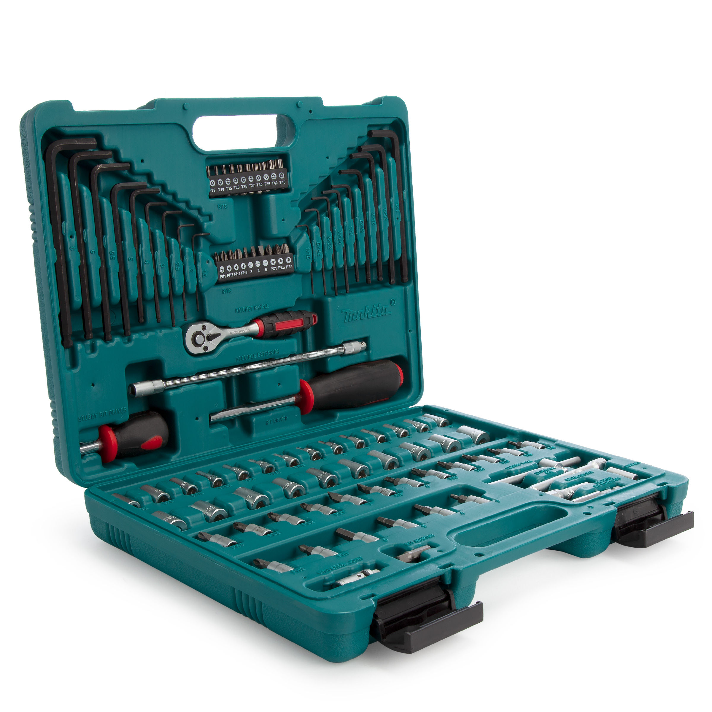 Makita Tool Kit, Service Engineer, Assorted Tools & Accessories, 91 Pieces P-46470